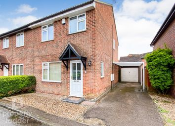 Thumbnail 3 bed semi-detached house for sale in Lindley Close, Old Catton, Norwich