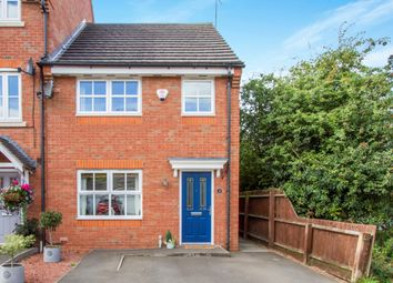 Thumbnail 3 bedroom town house for sale in Parnell Close, Littlethorpe, Leicester