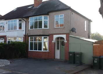 Thumbnail 4 bedroom semi-detached house to rent in Moat Avenue, Green Lane, Coventry.