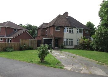 Thumbnail 3 bed semi-detached house to rent in Rodney Road, Solihull