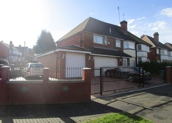 Thumbnail 4 bed semi-detached house for sale in Norman Road, Bearwood, Smethwick