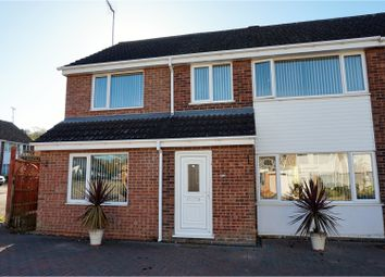 Thumbnail 4 bed semi-detached house for sale in Roses Close, Wollaston