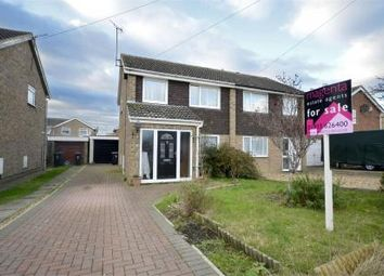 Thumbnail 3 bed semi-detached house for sale in Mallows Drive, Raunds, Northamptonshire