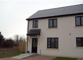 Thumbnail 3 bed semi-detached house to rent in Leven Close, Hook, Haverfordwest