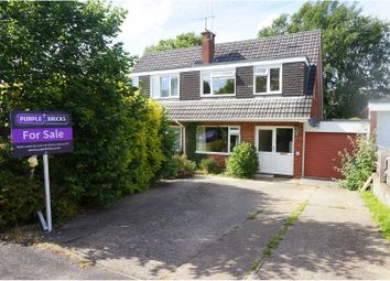 Thumbnail 3 bed semi-detached house for sale in Hawkins Close, Ringwood