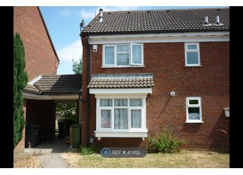 Thumbnail 1 bed end terrace house to rent in Howard Close, Luton