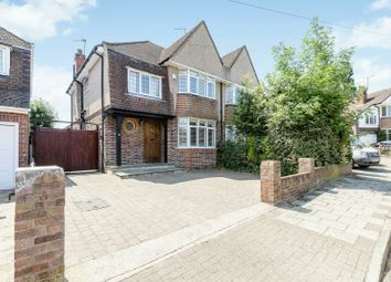 Thumbnail 3 bed semi-detached house for sale in Anglesmede Way, Pinner, Middlesex