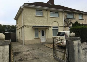 Thumbnail 3 bed semi-detached house for sale in Brynawel Road, Swansea