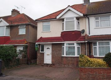 Thumbnail 3 bed end terrace house to rent in First Avenue, Lancing