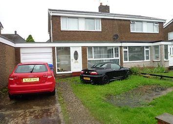 Thumbnail 3 bedroom semi-detached house for sale in Barrowburn Place, Seghill, Cramlington
