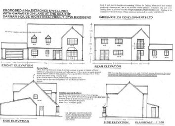 Thumbnail 4 bedroom detached house for sale in Greenfields Lane, Heol Y Cyw, Bridgend.