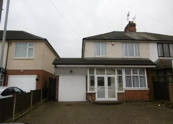 Thumbnail 3 bed semi-detached house to rent in Rosamund Avenue, Braunstone Town, Leicester