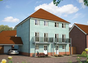 "Thumbnail 4 bed semi-detached house for sale in ""The Harrogate"" at Dragonfly Lane, Cringleford, Norwich"