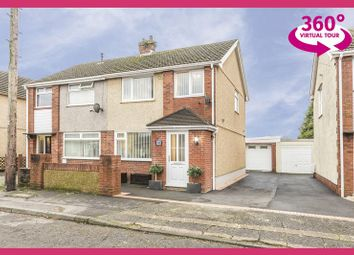 Thumbnail 3 bedroom semi-detached house for sale in Denver Road, Fforestfach, Swansea