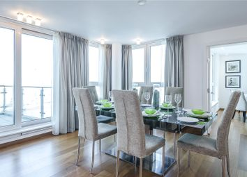 Thumbnail 3 bed flat for sale in Kestrel House, St. George Wharf, London