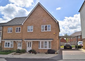 Thumbnail 4 bed semi-detached house for sale in Flora Way, Rochester