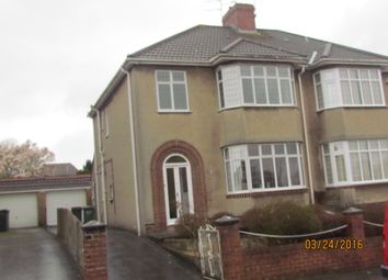 Thumbnail 3 bed semi-detached house to rent in Cleeve Lodge Road, Downend, Bristol