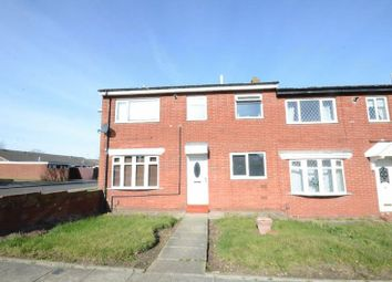 Thumbnail 3 bedroom end terrace house for sale in Hall Farm Road, Sunderland