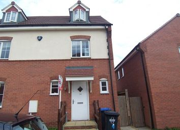 Thumbnail 5 bed semi-detached house to rent in Hidcote Close, Bilton, Rugby