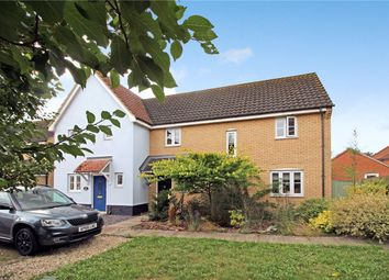 Thumbnail 3 bed semi-detached house for sale in Folkard Close, Long Stratton, Norwich, Norfolk