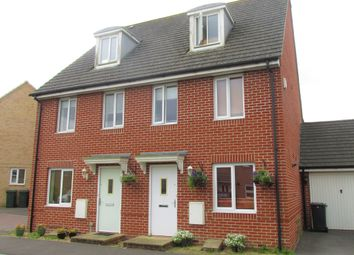 Thumbnail 3 bedroom town house to rent in Wellstead Way, Hedge End, Southampton