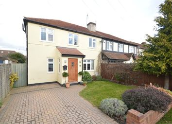 Thumbnail 3 bed semi-detached house for sale in Branksome Close, Walton-On-Thames