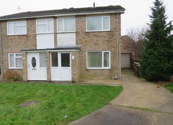 Thumbnail 2 bed semi-detached house for sale in Holmes Way, Peterborough