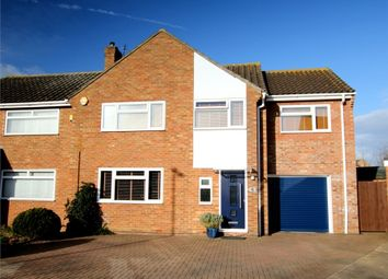 Thumbnail 4 bed semi-detached house for sale in Curlew Place, St. Neots
