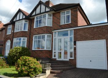 Thumbnail 3 bedroom semi-detached house for sale in Elms Avenue, Littleover, Derby
