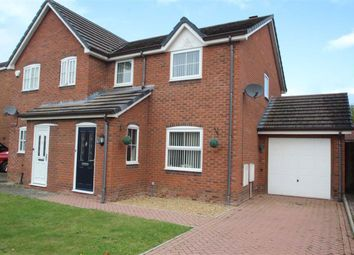 Thumbnail 3 bed semi-detached house for sale in Plas Newydd Close, Oswestry