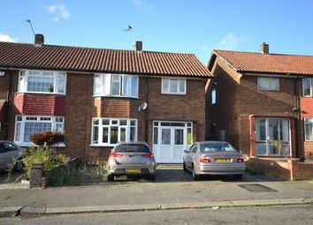 Thumbnail 3 bed semi-detached house to rent in Abercorn Gardens, Chadwell Heath, Romford