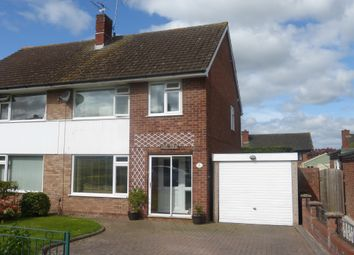 Thumbnail 3 bed semi-detached house for sale in Carroll Avenue, Hereford