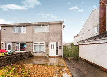 Thumbnail 2 bed semi-detached house for sale in Milton Close, Beddau, Pontypridd