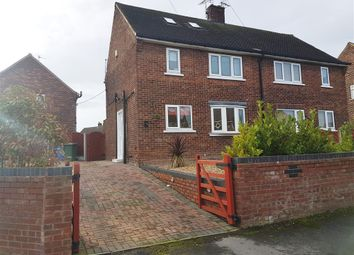 Thumbnail 2 bed semi-detached house to rent in Windermere Avenue, Harworth, Doncaster