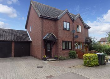 Thumbnail 2 bed semi-detached house for sale in Russet Close, Attleborough