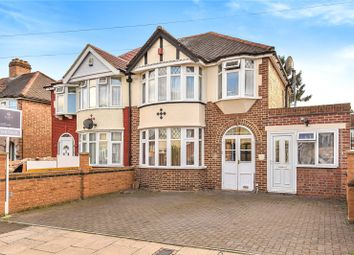 Thumbnail 3 bed semi-detached house for sale in Lincoln Close, Greenford
