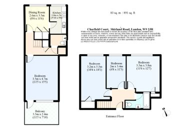 Thumbnail 3 bed flat for sale in Charfield Court, 2 Shirland Road, City Of Westminster, London
