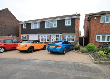 Thumbnail 4 bed semi-detached house for sale in Swanbourne Drive, Hornchurch