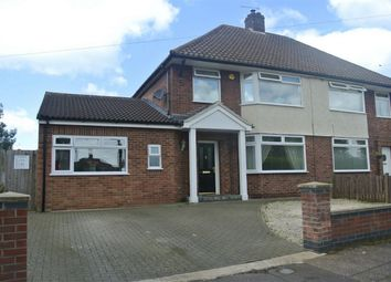 Thumbnail 3 bed semi-detached house for sale in Caverstede Road, Peterborough, Cambridgeshire