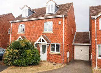 Thumbnail 3 bed town house for sale in Bristol Close, Coddington, Newark