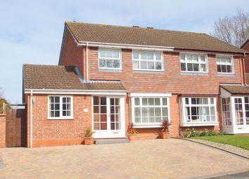 Thumbnail 4 bed semi-detached house for sale in Mercot Close, Oakenshaw South, Redditch, Worcs.