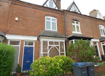Thumbnail 3 bedroom terraced house to rent in Regent Road, Harborne, Birmingham