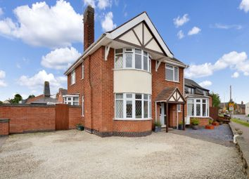 Thumbnail 4 bed detached house for sale in Leicester Road, Sapcote, Leicester