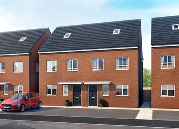 """Thumbnail 3 bedroom semi-detached house for sale in """"The Bamborough"""" at Willow Road, Bedford"""