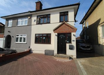 Thumbnail 3 bed semi-detached house for sale in Lynwood Drive, Collier Row, Romford