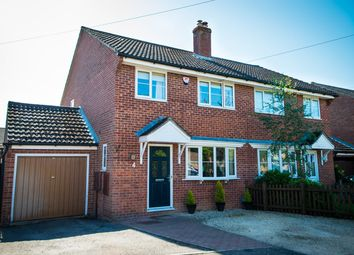 Thumbnail 3 bed semi-detached house for sale in Mountbatten Close, Newbury