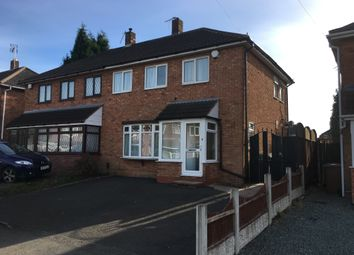 Thumbnail 3 bed semi-detached house to rent in Leighs Road, Walsall