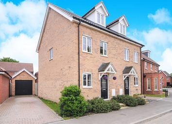 Thumbnail 3 bedroom semi-detached house for sale in Barleycorn Way, Beck Row, Bury St. Edmunds