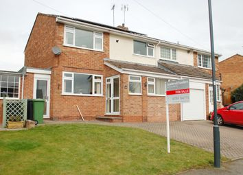 Thumbnail 3 bed semi-detached house for sale in Riddell Close, Alcester