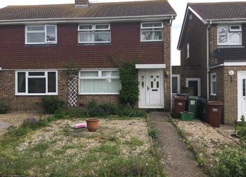 Thumbnail 3 bed semi-detached house to rent in Gainsborough Crescent, Eastbourne